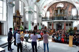Das pentaTon Bläserquintett vermittelte am SwissChamber MusicCircle über 250 Schülerinnen und Schülern aus dem Kanton Uri den Zugang zur klassischen Musik und ihren Instrumenten. (Foto: Peter Fischli)